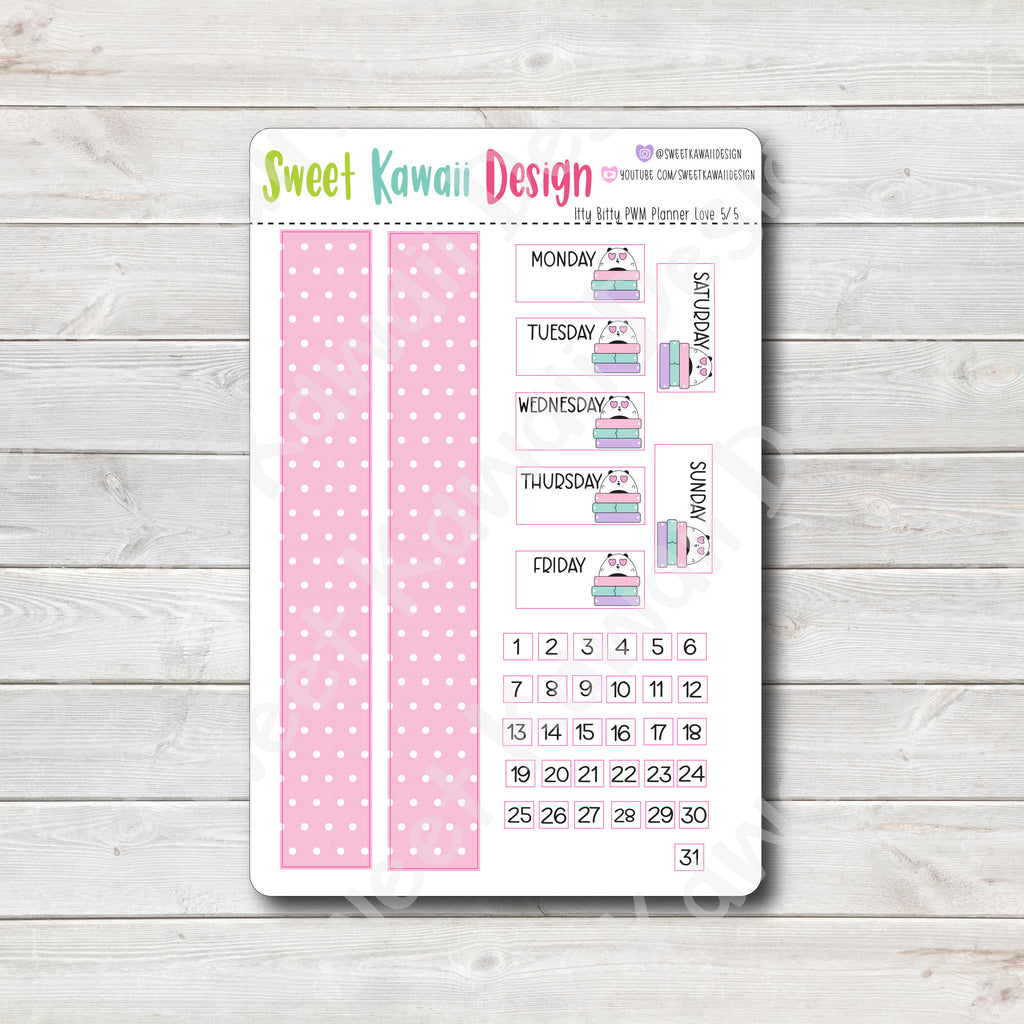 Weekly Kit  - Planner Love ITTY BITTY