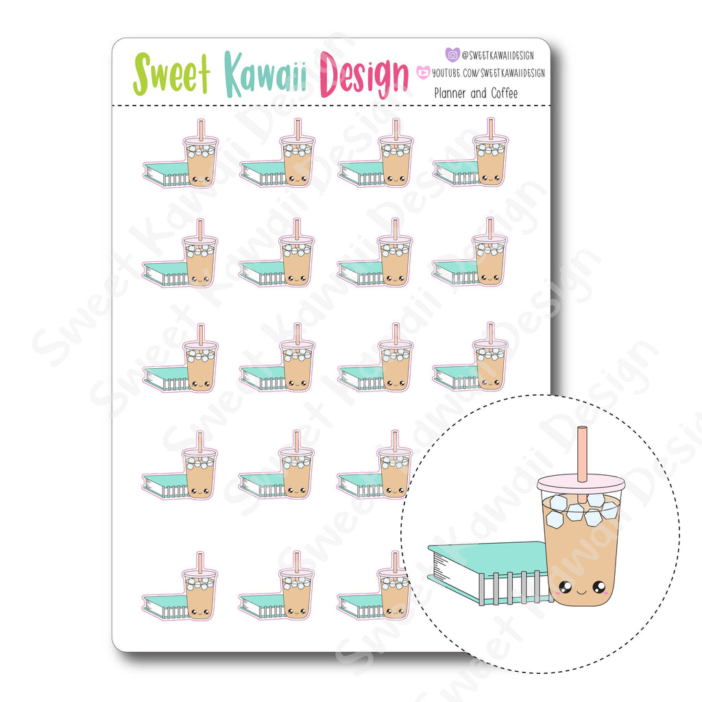 Kawaii Planner and Coffee Stickers