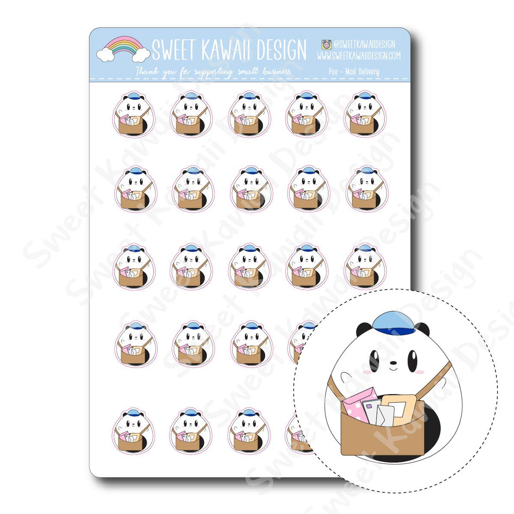 Kawaii Poe Stickers - Mail Delivery