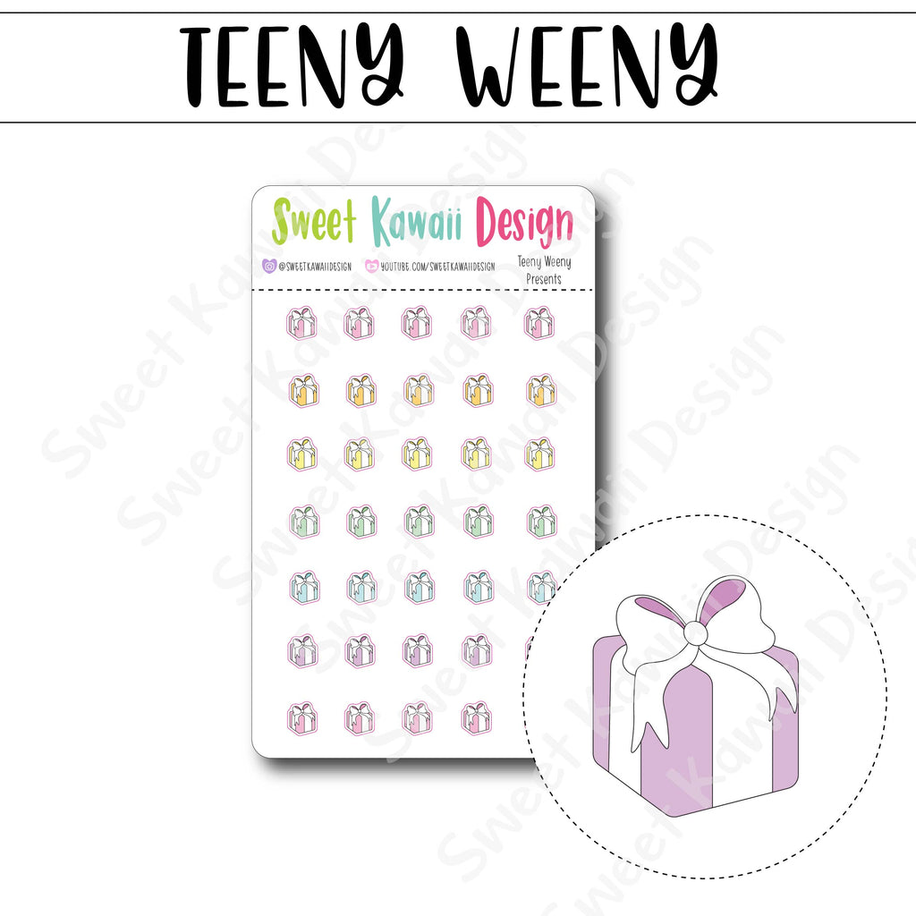 Teeny Weeny Presents Stickers
