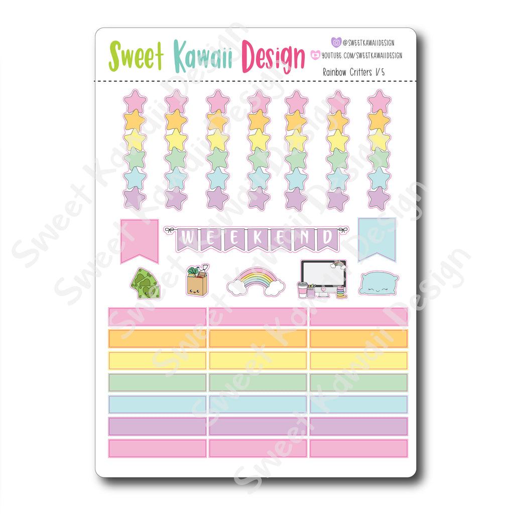 Weekly Kit  - Rainbow Critters HORIZONTAL
