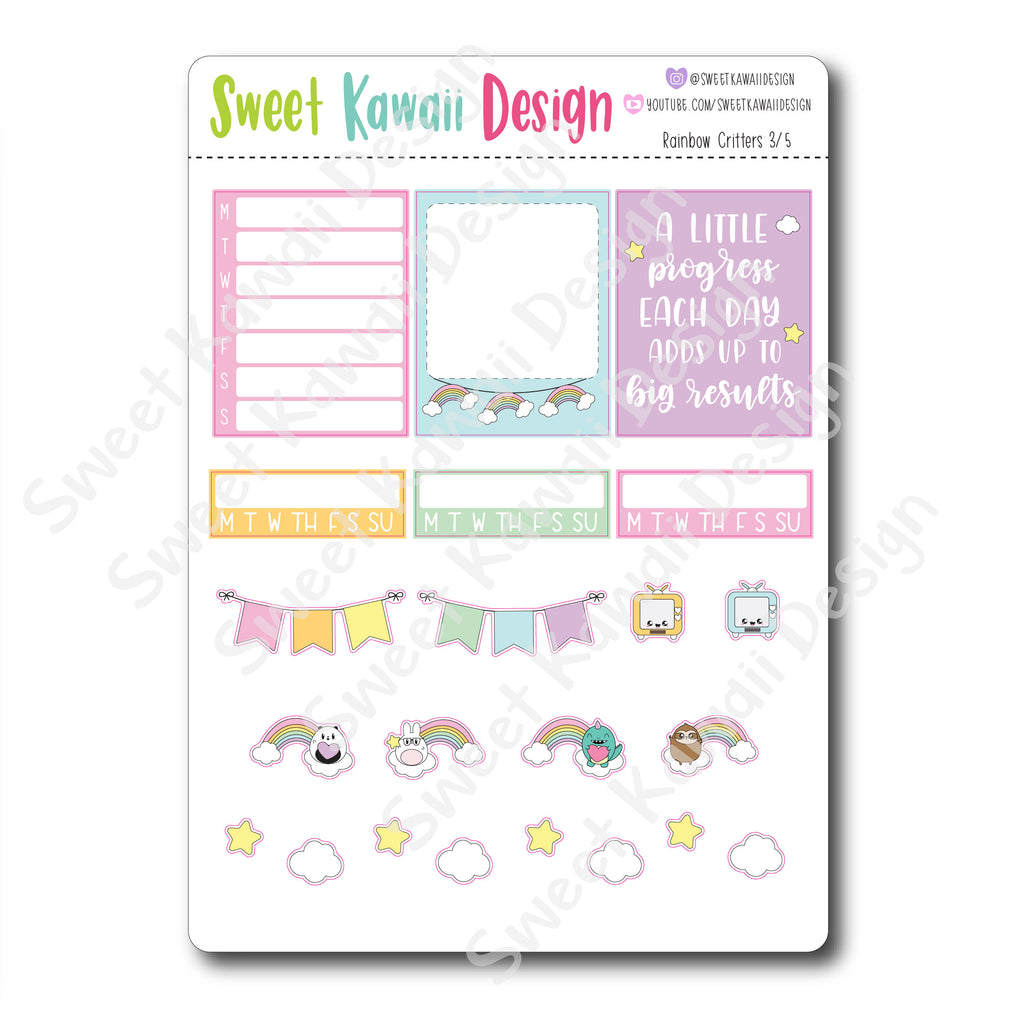 Weekly Kit  - Rainbow Critters