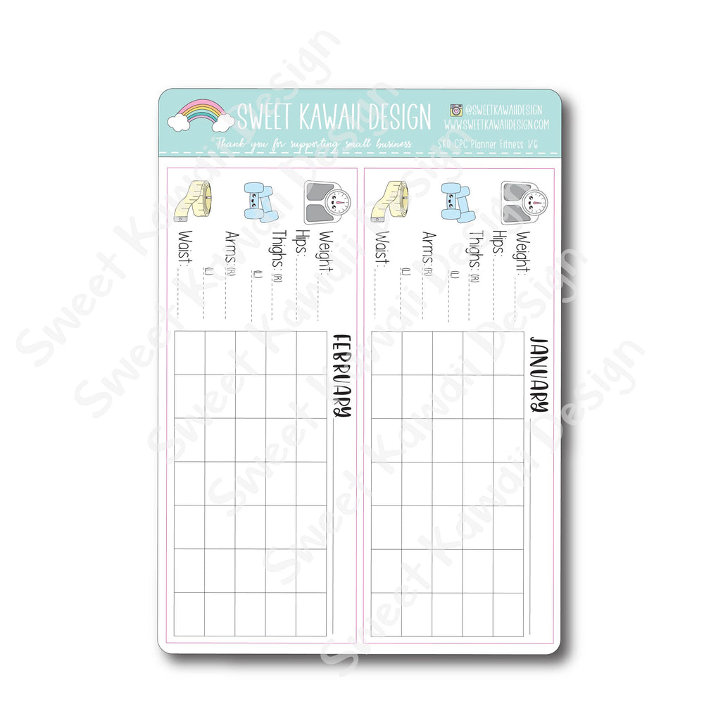 Kawaii SKD/CPC Planner Fitness Overview - 12 Month