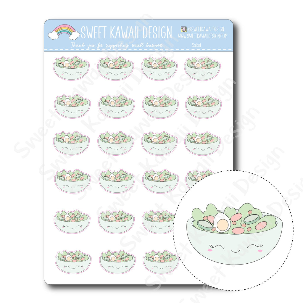 Kawaii Salad Stickers