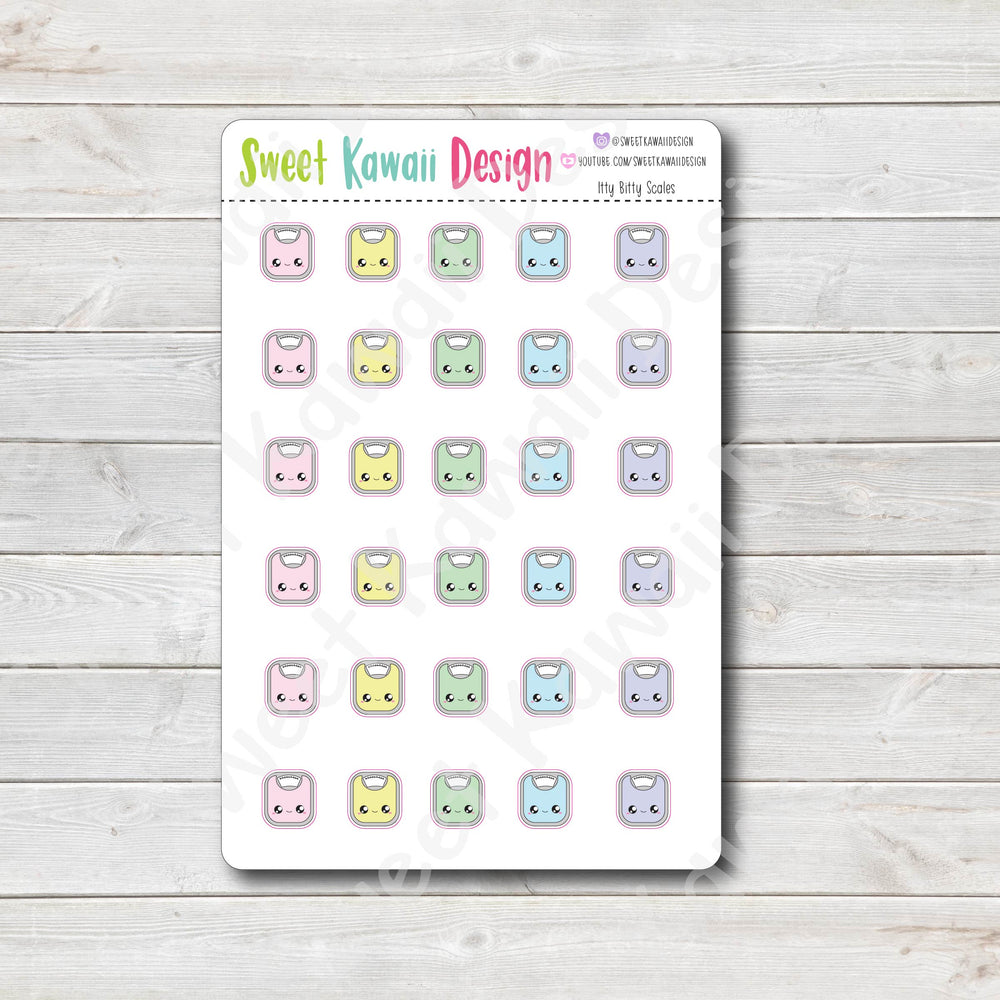 Kawaii Scale Stickers