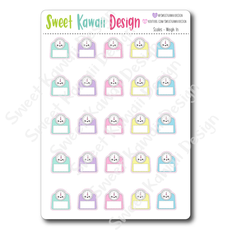 Kawaii Scale Stickers - Weigh In