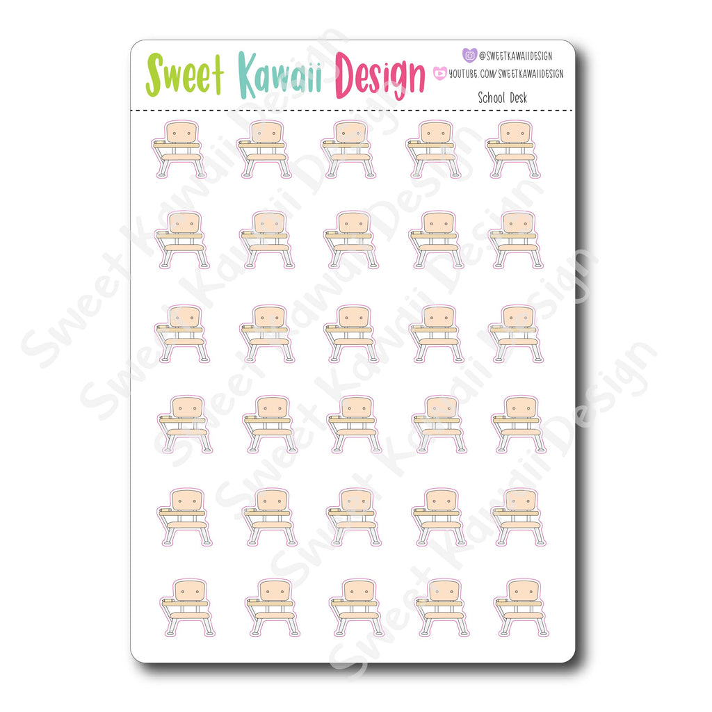 Kawaii School Desk Stickers