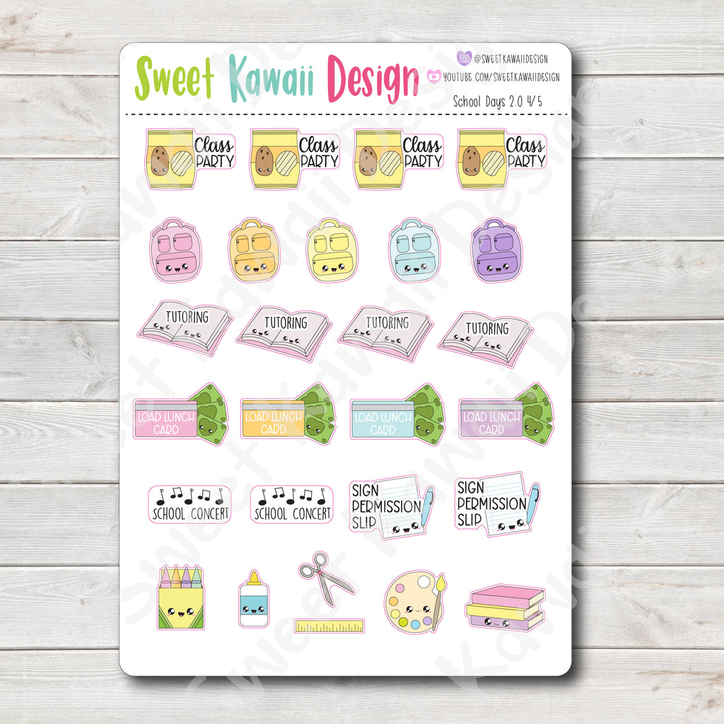Kawaii School Days Kit - 2 Sizes Available