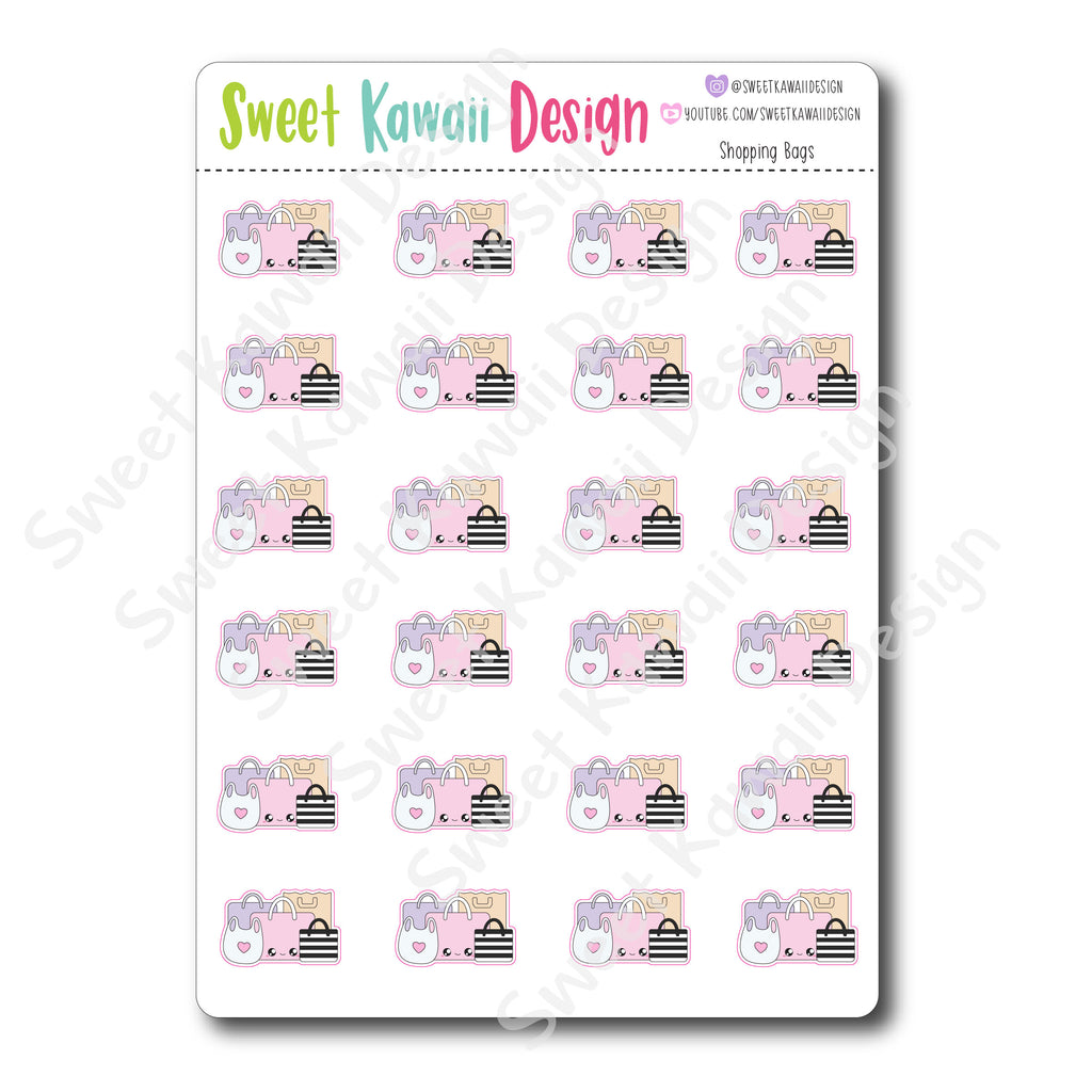 Kawaii Shopping Bag Stickers