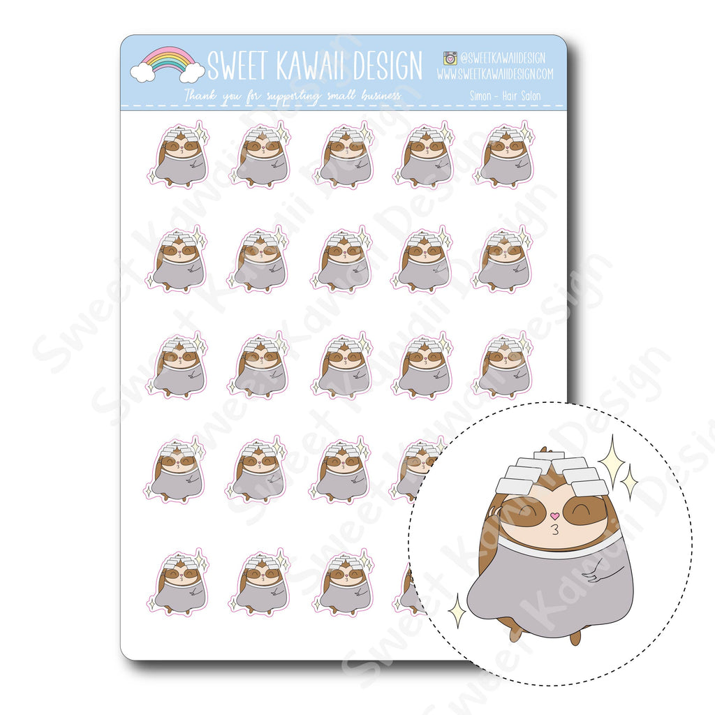 Kawaii Simon Stickers - Hair Salon