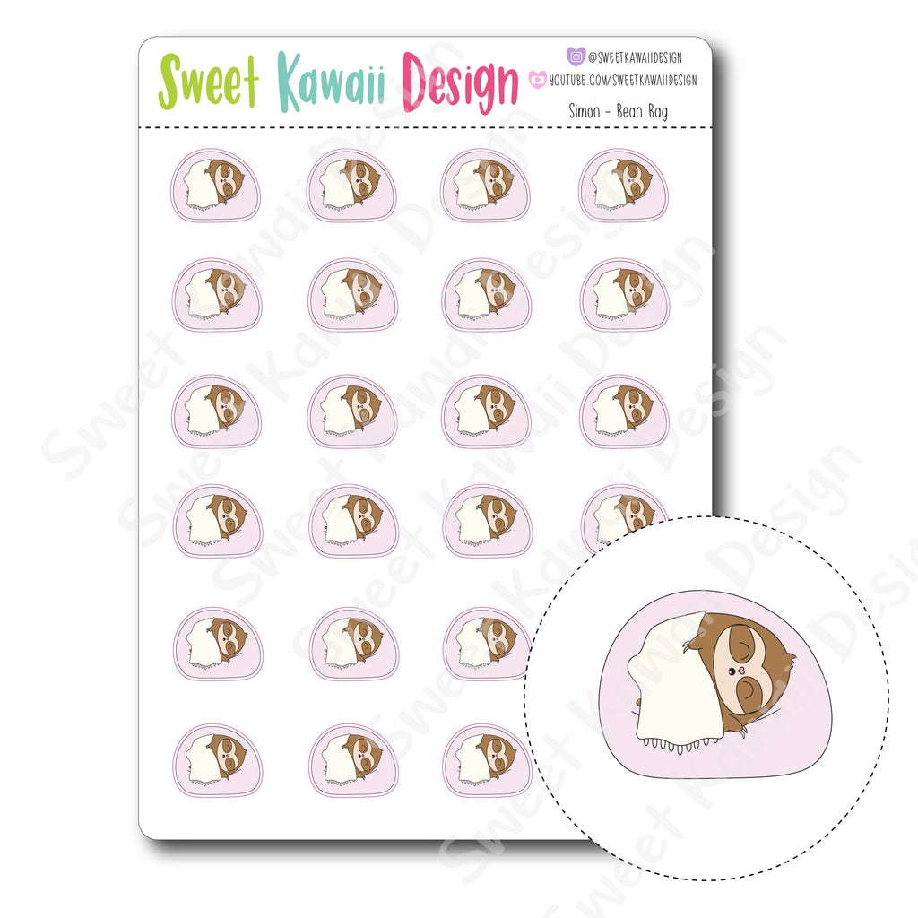 Kawaii Simon Stickers - Bean Bag