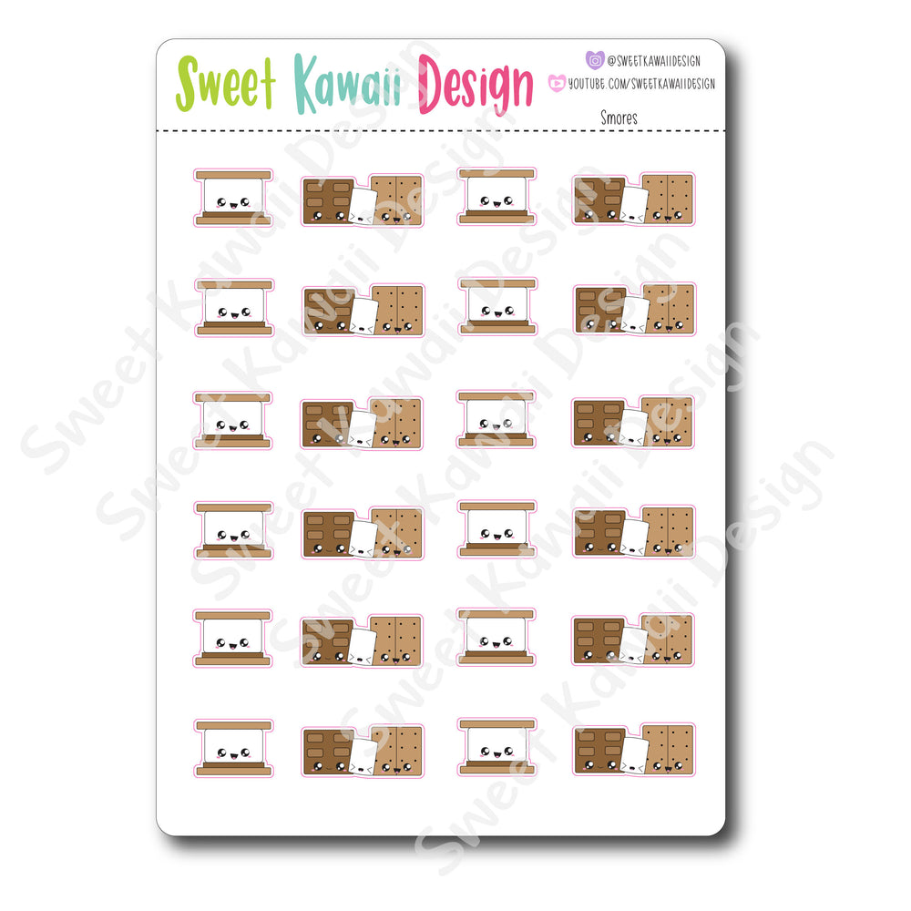 Kawaii S'mores Stickers