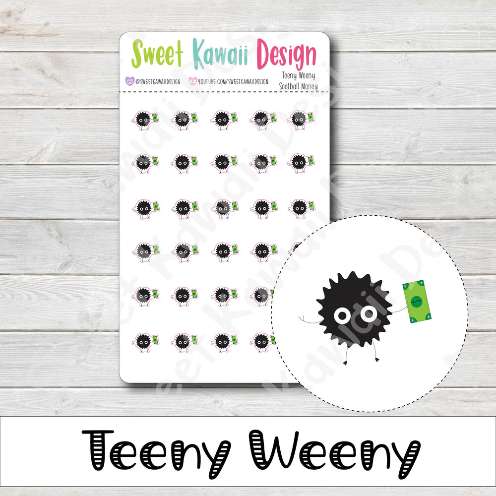 Teeny Weeny Sootball Money Stickers