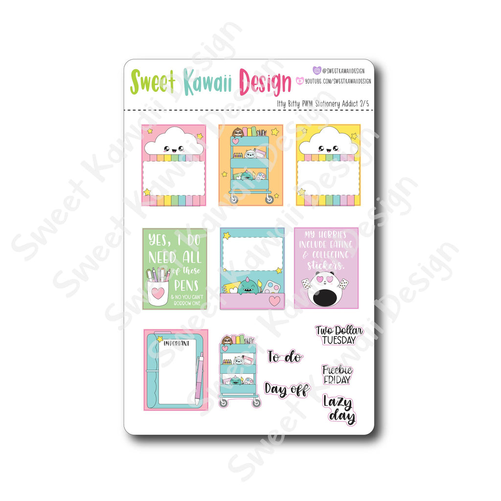 Weekly Kit  - Stationery Addict ITTY BITTY