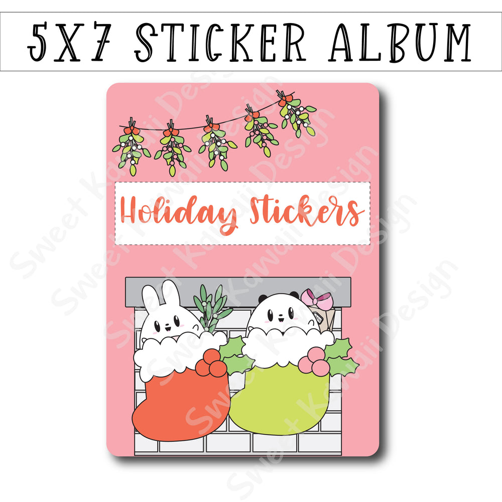 SKD 5x7 Sticker Album - Holiday Stickers