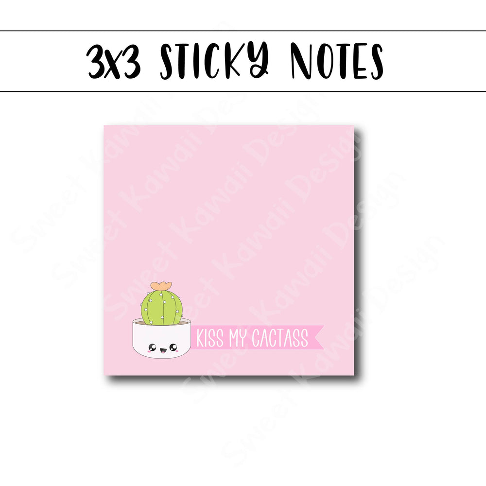 3x3 Kiss My Cactass Sticky Notes