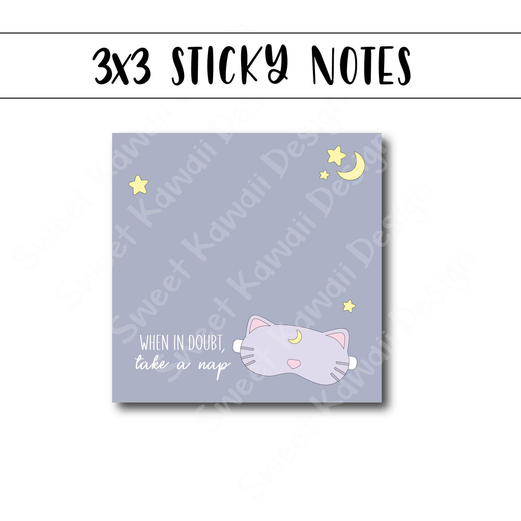 3x3 Sleepy Mask Sticky Notes