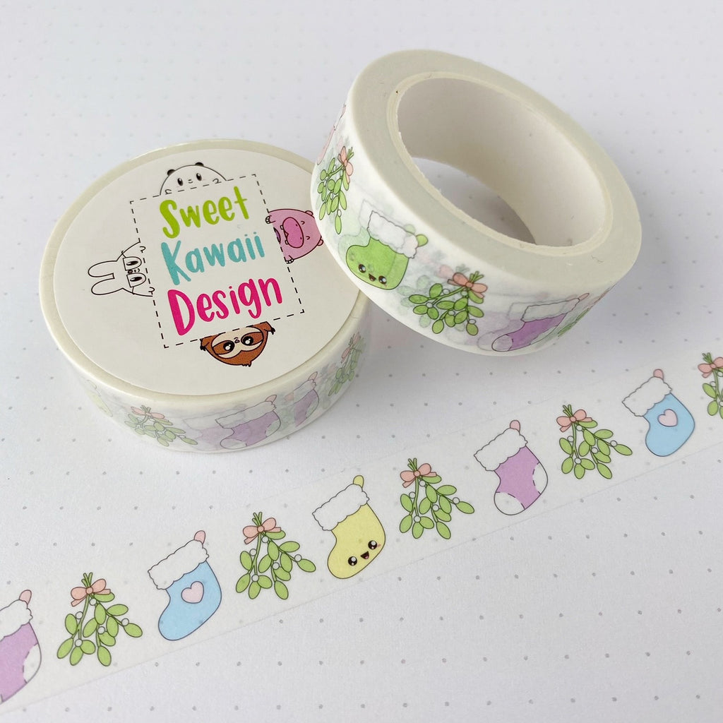 Kawaii Stocking Washi Tape 15mm x 10m