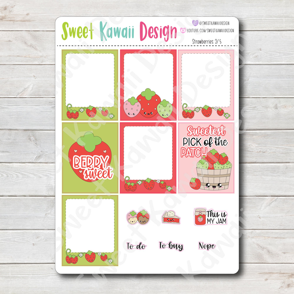 Kawaii Plan With Me - Strawberries HORIZONTAL