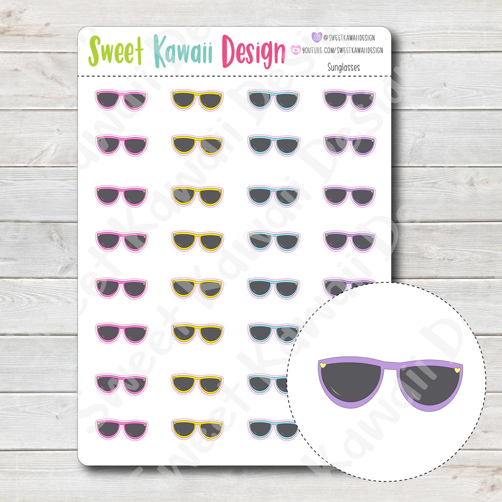 Kawaii Sunglasses Stickers