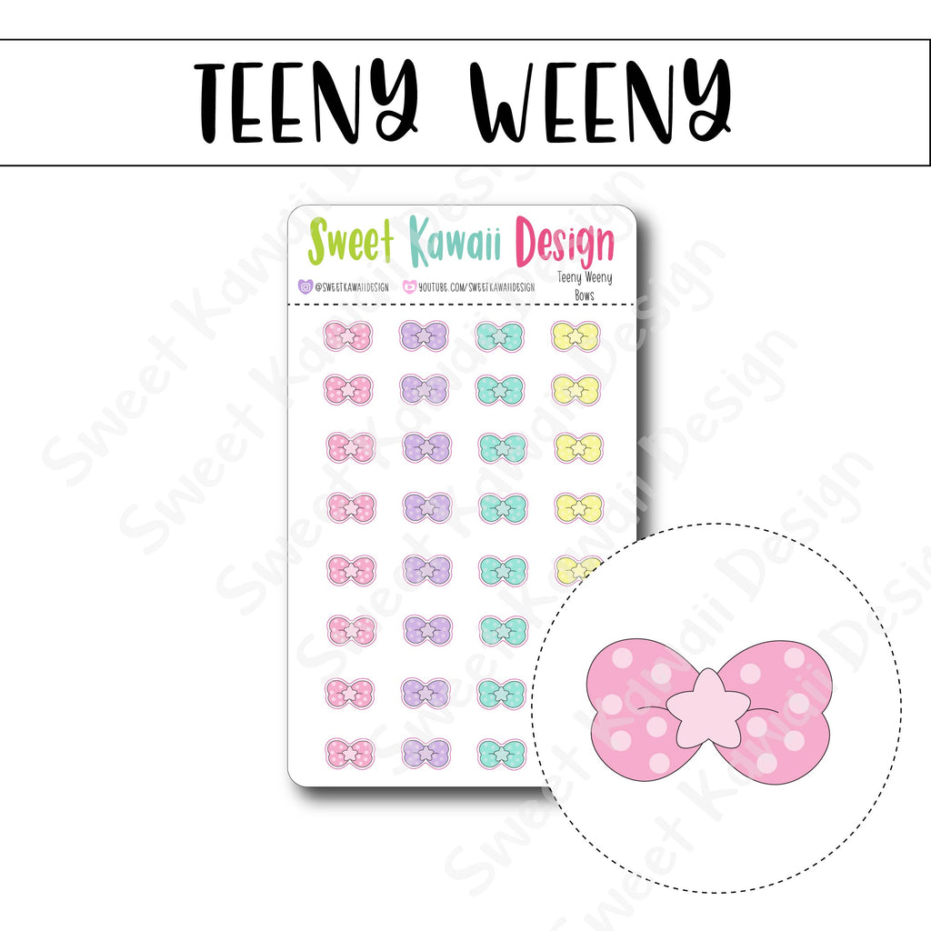 Teeny Weeny Bow Stickers