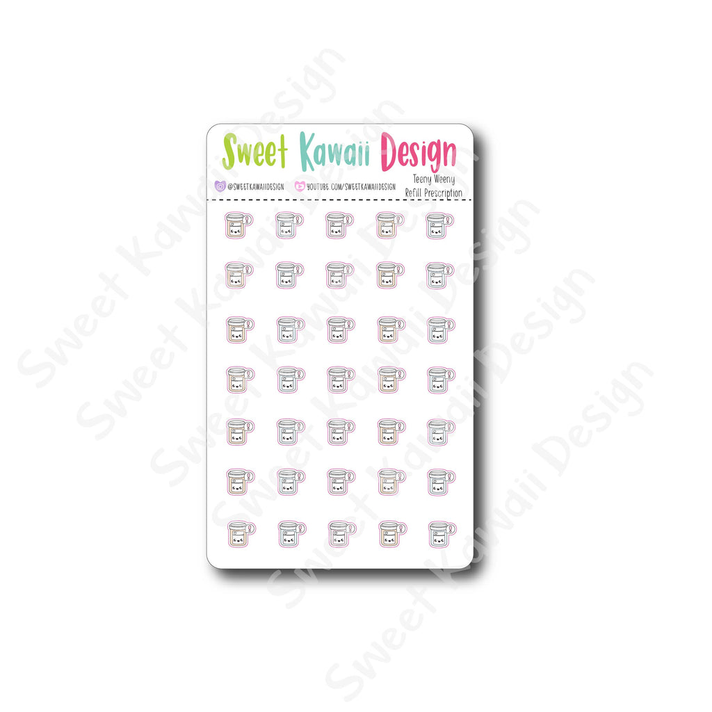 Teeny Refill Prescription Stickers