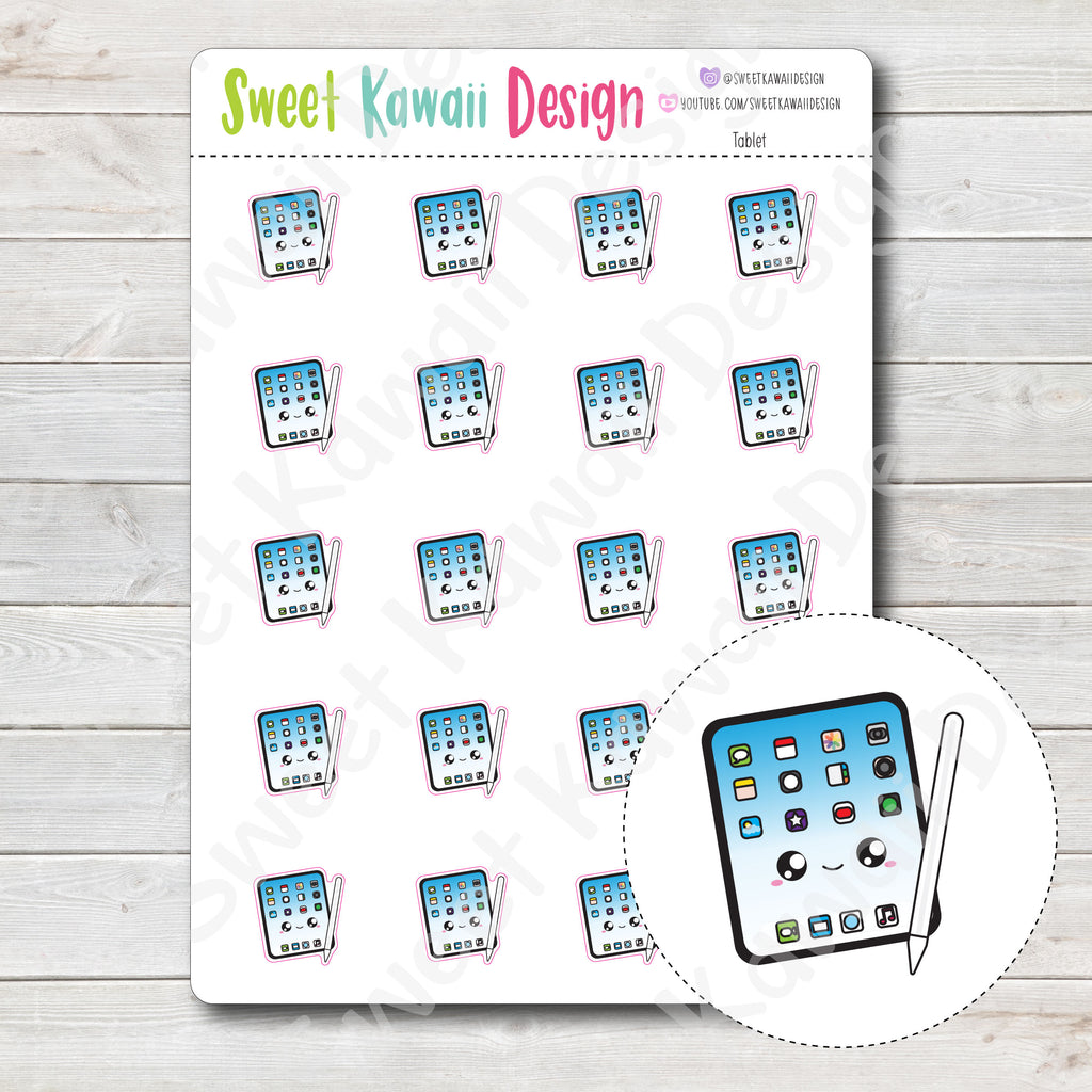 Kawaii Tablet Stickers