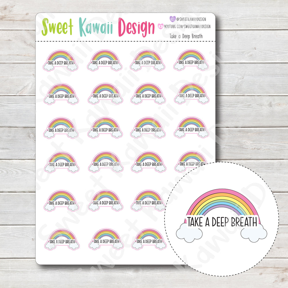 Kawaii Take a Deep Breath Stickers