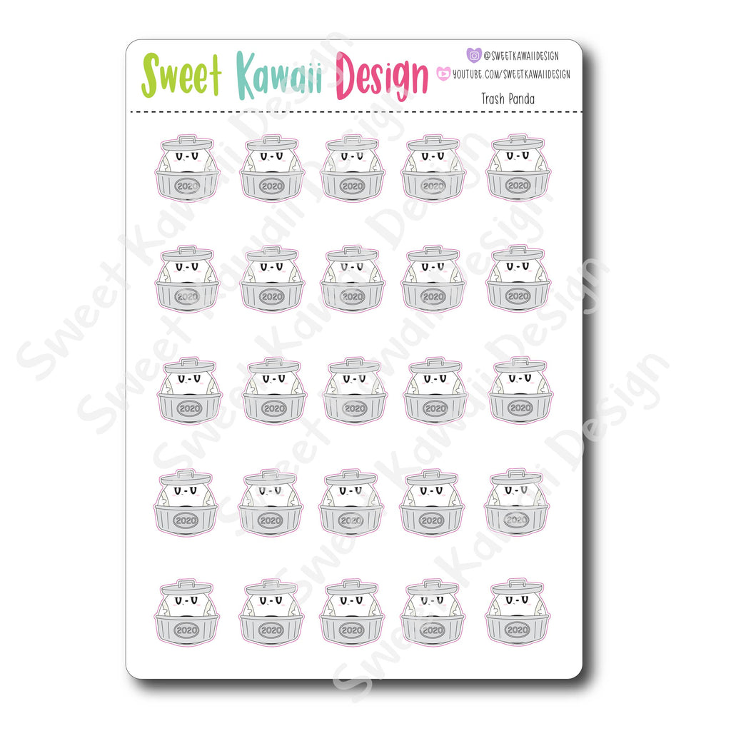 Kawaii Trash Panda Stickers