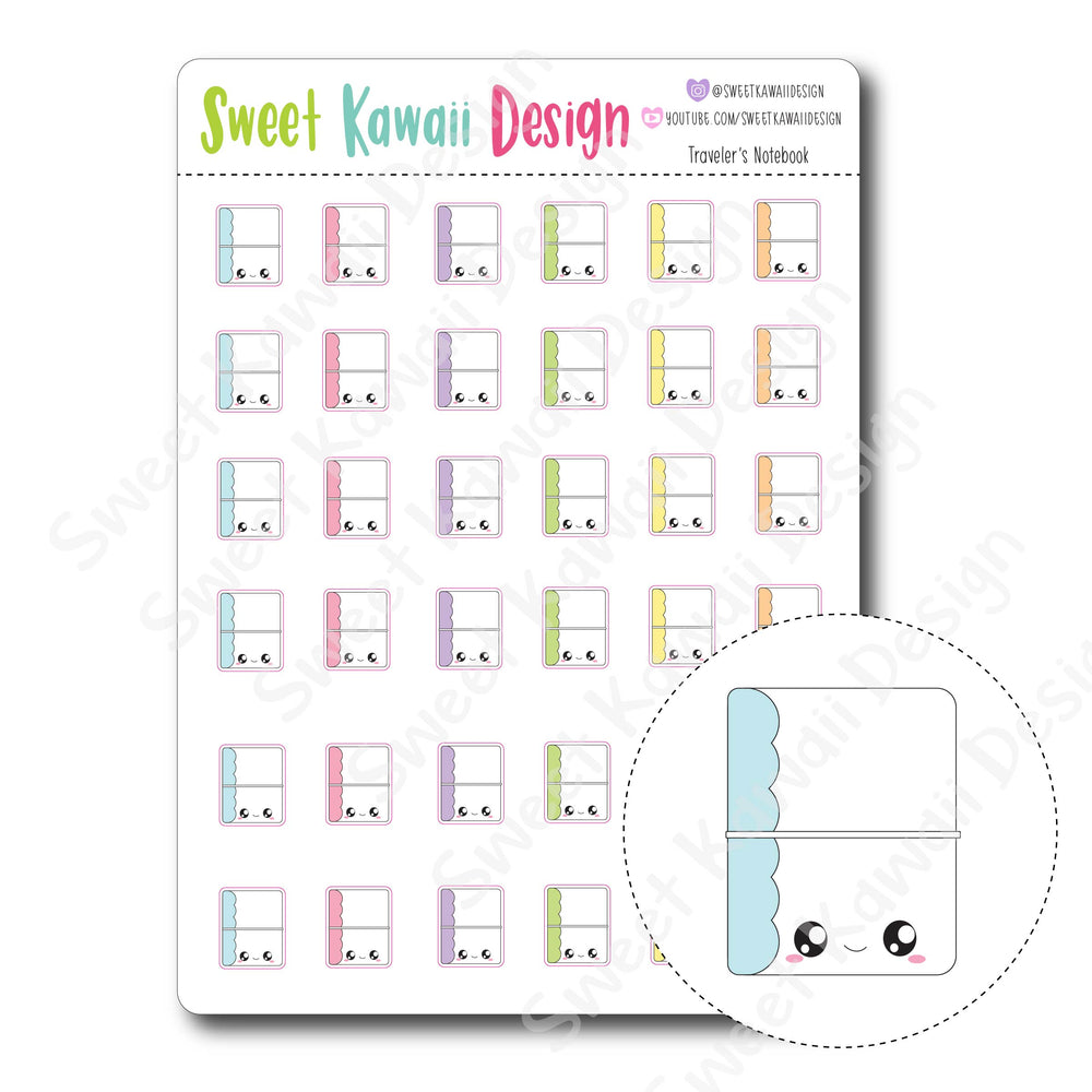Kawaii Travelers Notebook Stickers