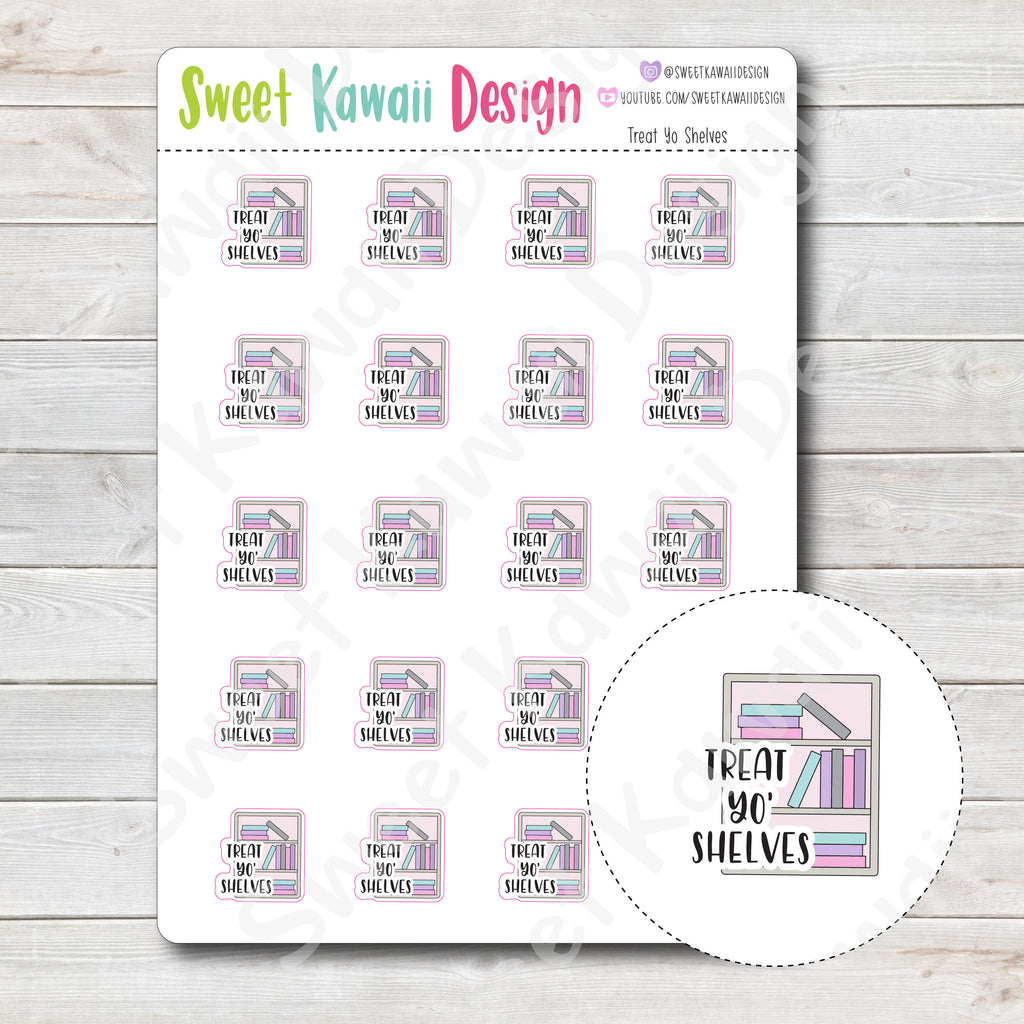 Kawaii Treat Yo' Shelves Stickers