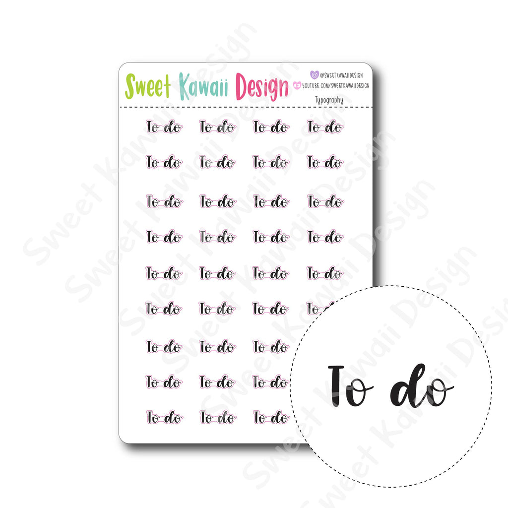 Typography Stickers - To Do