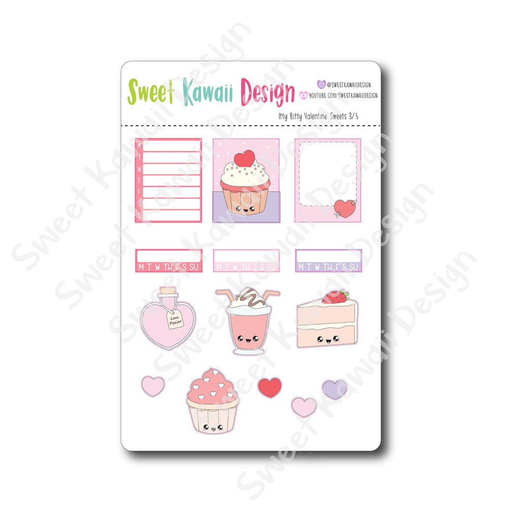 Weekly Kit  - Valentine Sweets ITTY BITTY