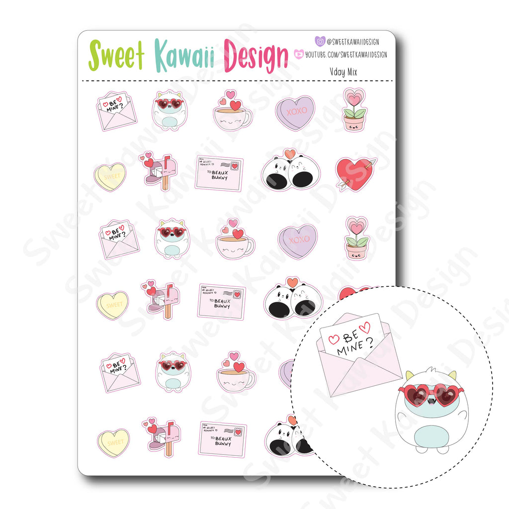 Kawaii Vday Mix Stickers