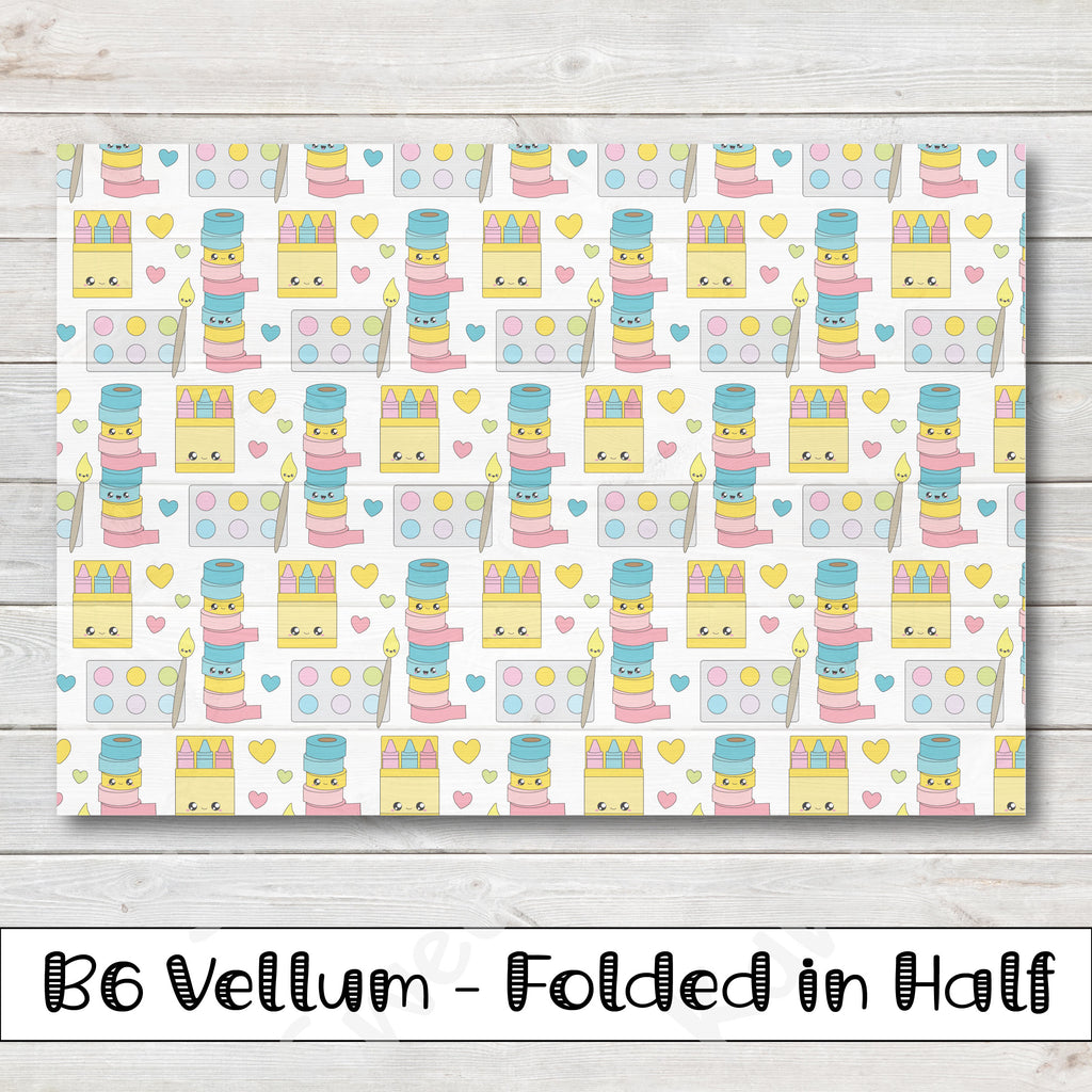 Crafty Vellum - B6 - Folded in Half