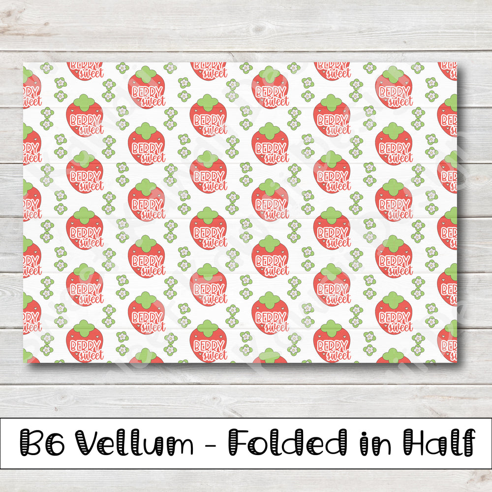 Strawberry Vellum - B6 - Folded in Half
