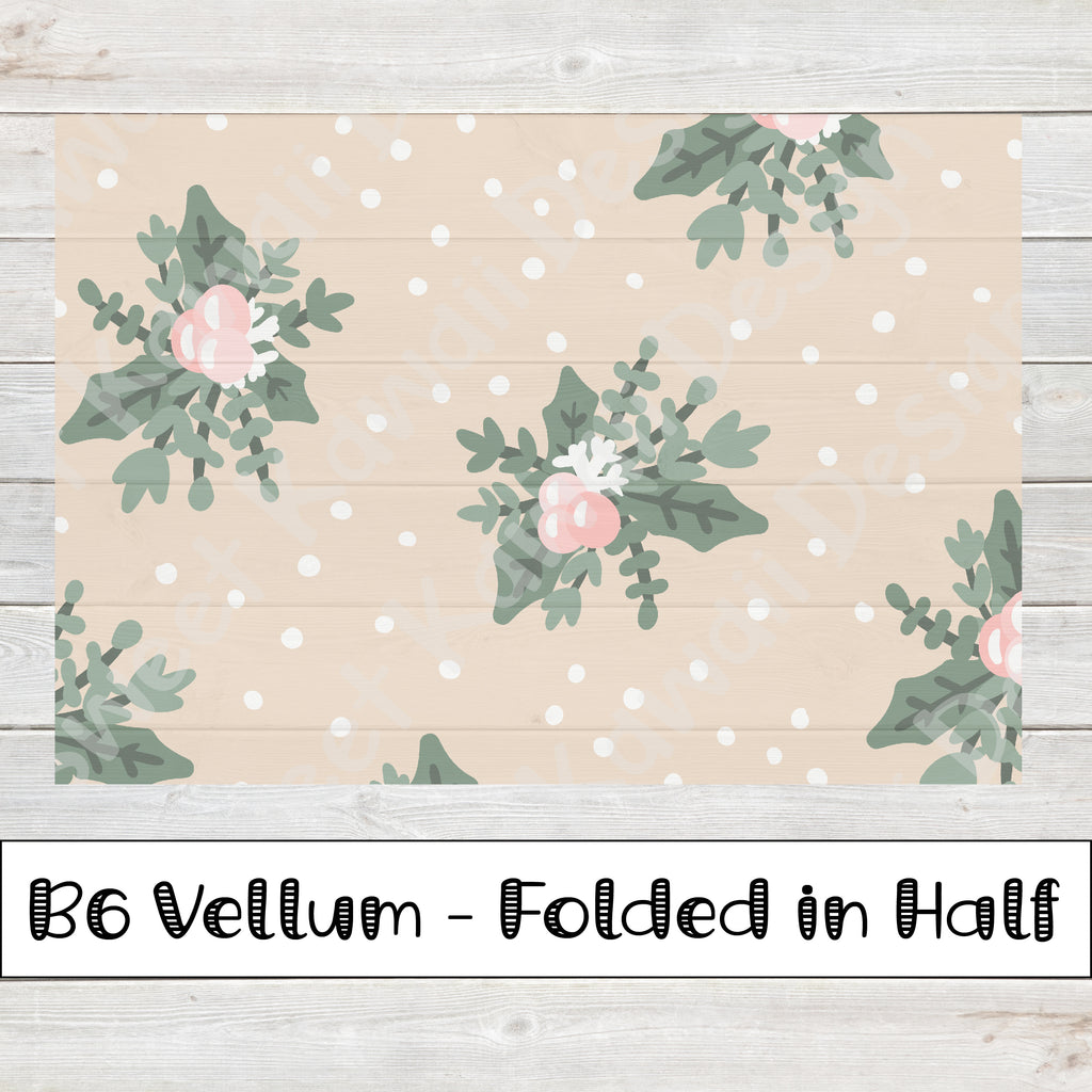 Winter Bouquet Vellum - B6 - Folded in Half