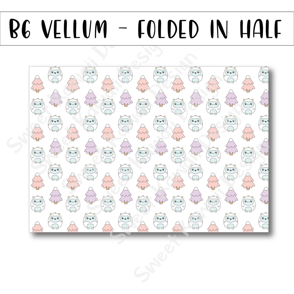 Yeti Vellum - B6 - Folded in Half