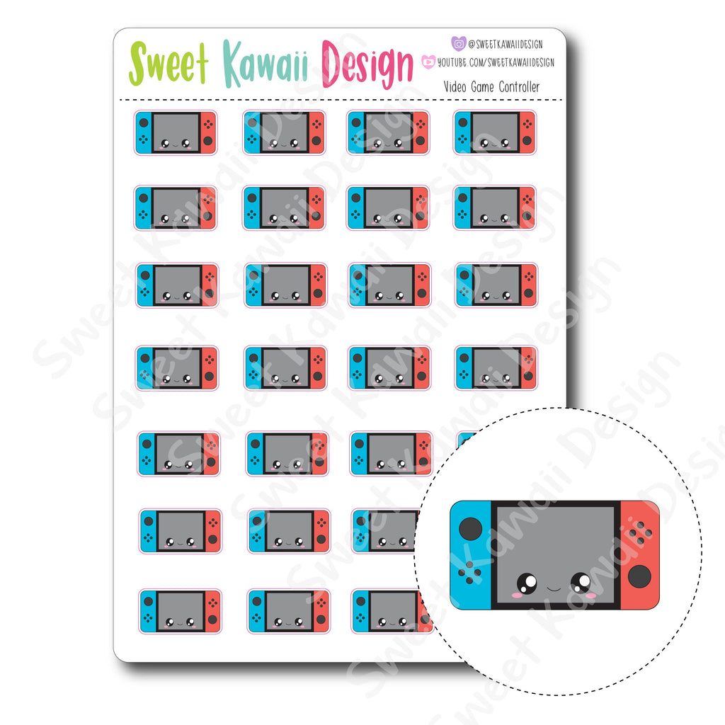 Kawaii Video Game Controller Stickers