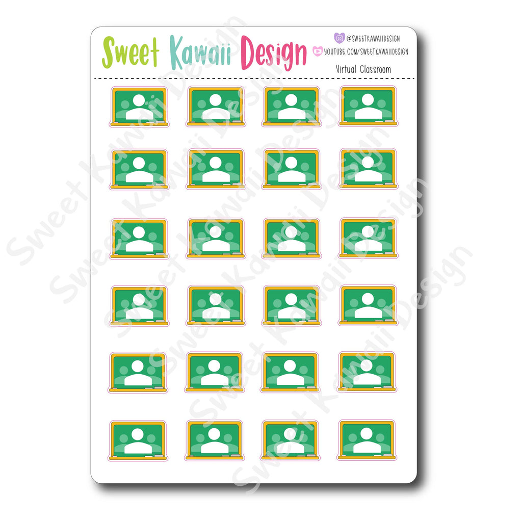 Kawaii Virtual Classroom Stickers