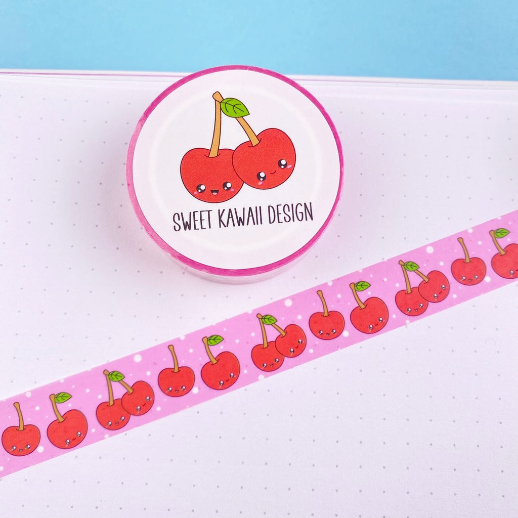 Kawaii Cherry Washi Tape 15mm x 10m