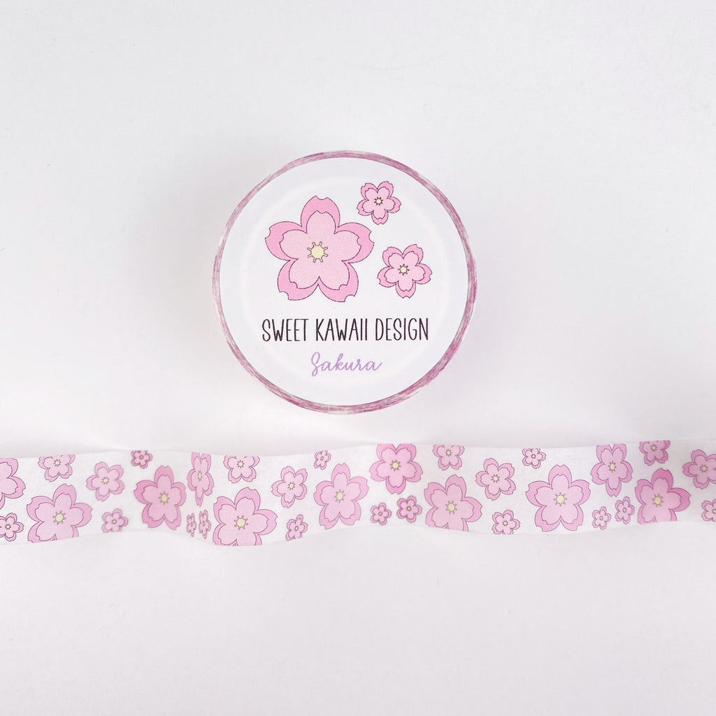 Kawaii Sakura Washi Tape 15mm x 10m