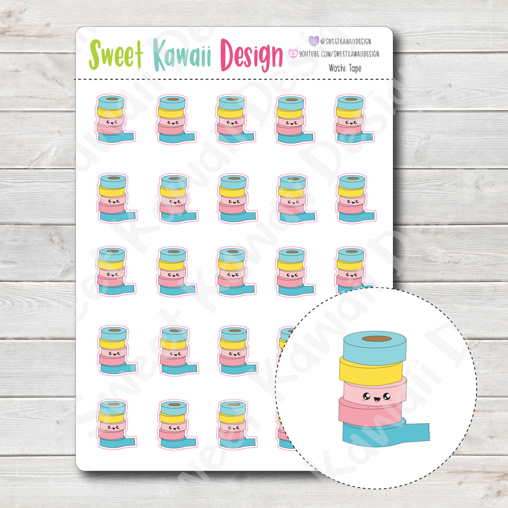 Kawaii Washi Tape Stickers