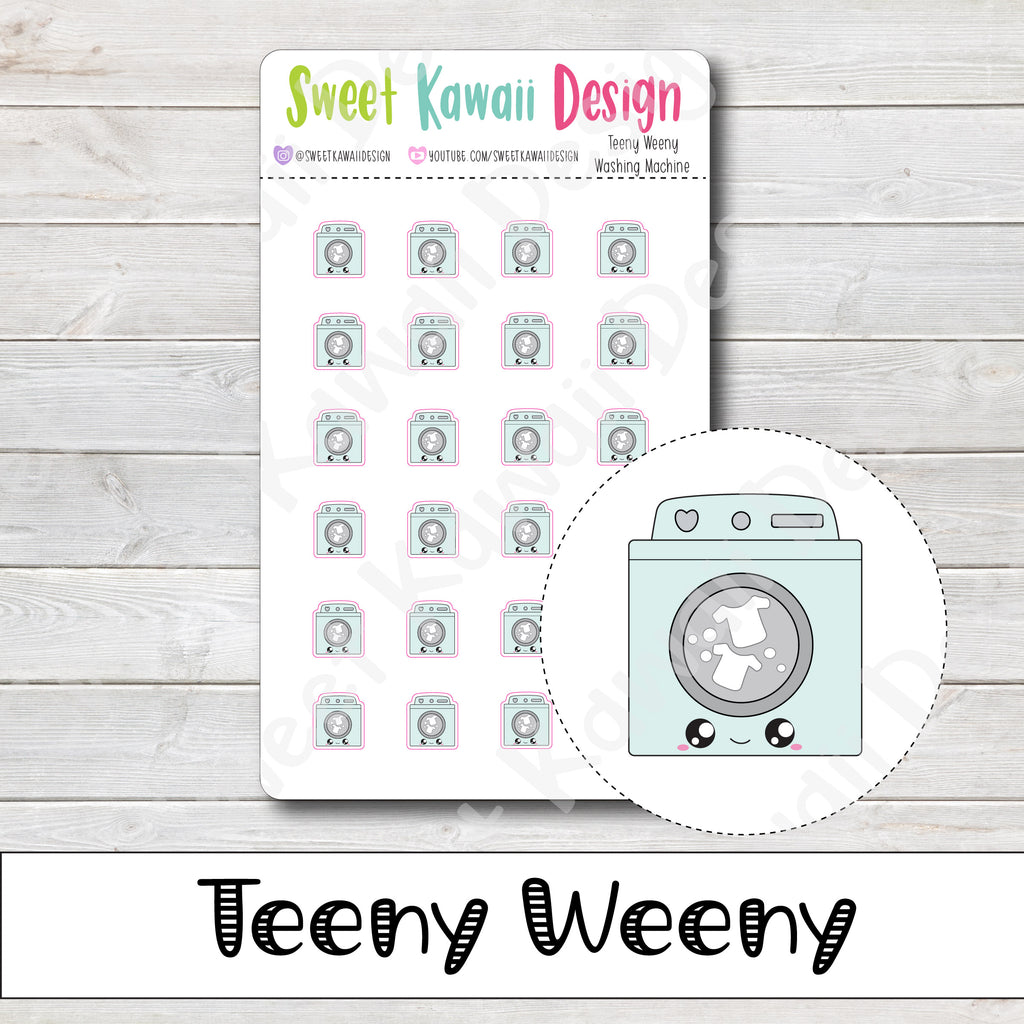 Teeny Weeny Washing Machine Stickers