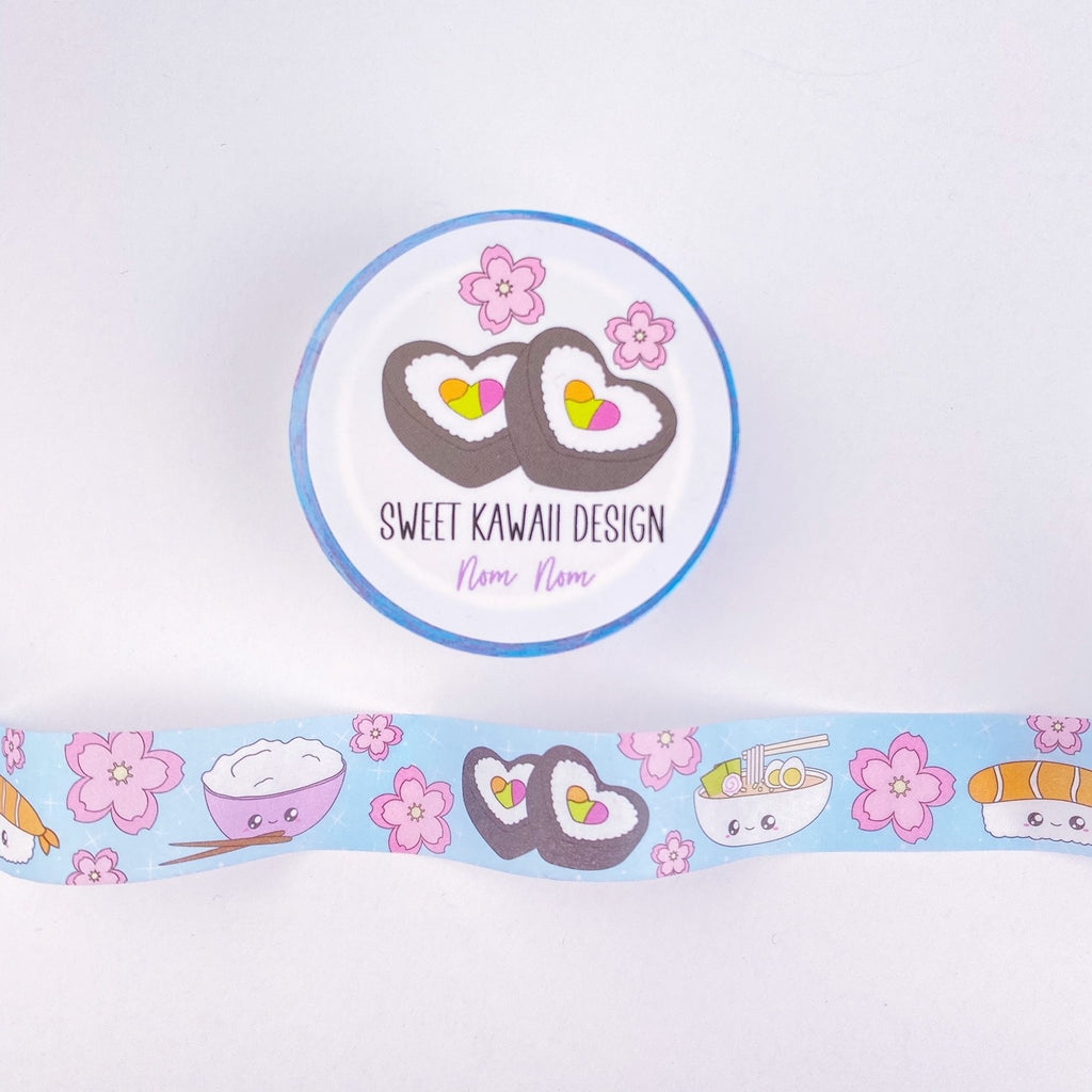 Kawaii Nom Nom Washi Tape 15mm x 10m