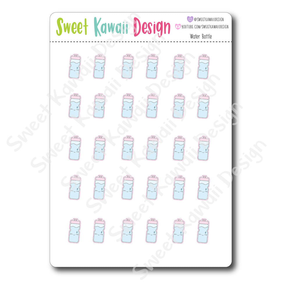 Kawaii Water Bottle Stickers
