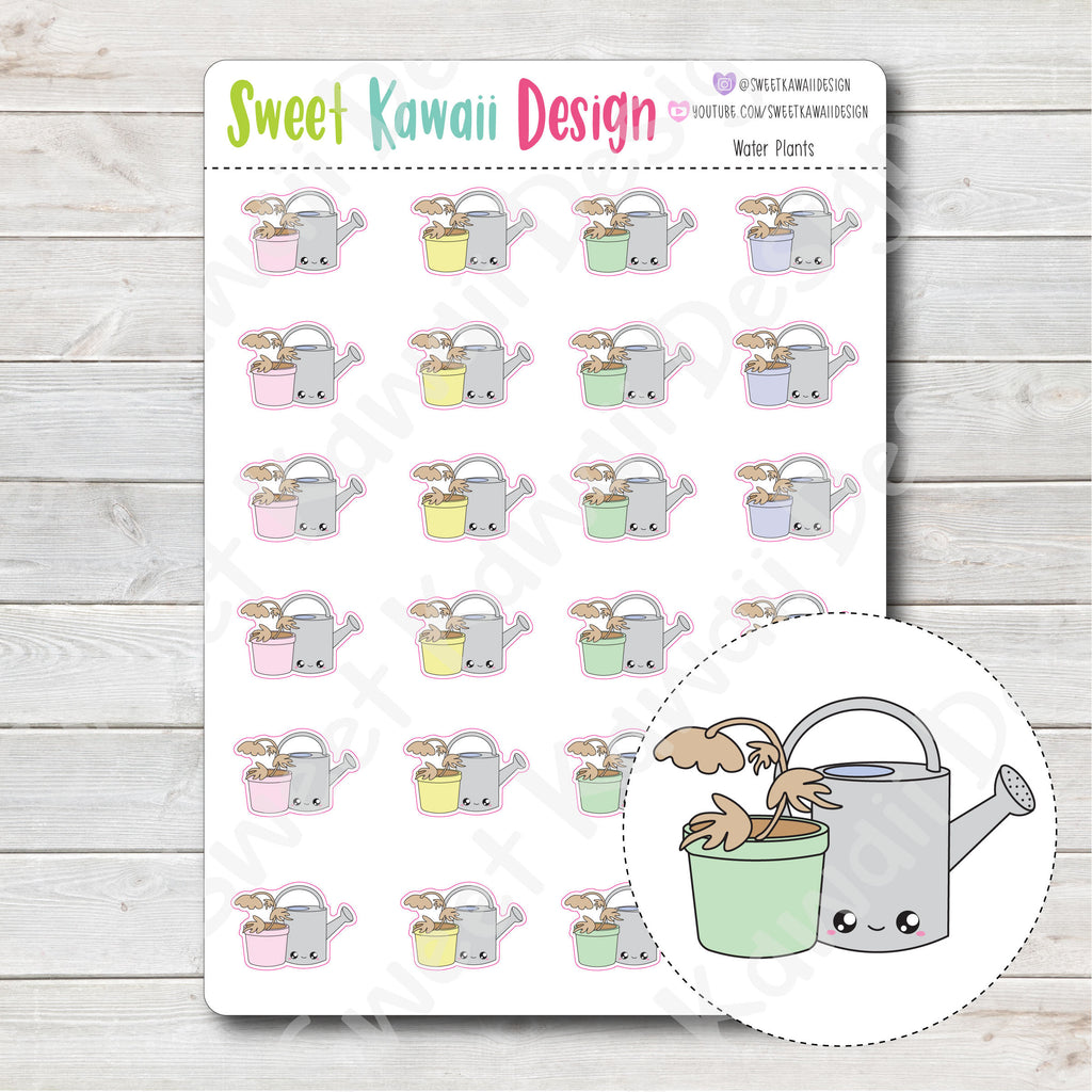 Kawaii Water Plants Stickers