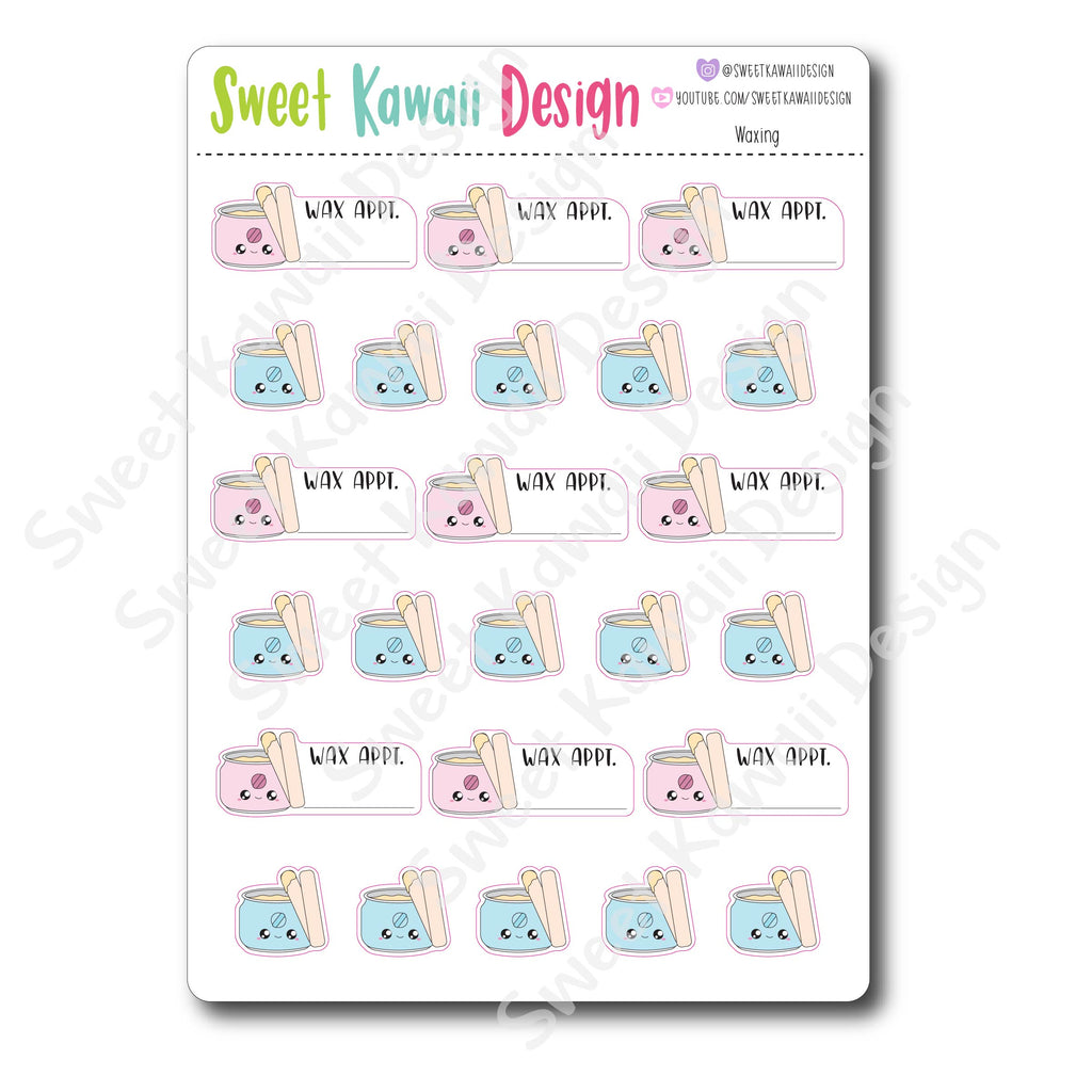 Kawaii Waxing Stickers