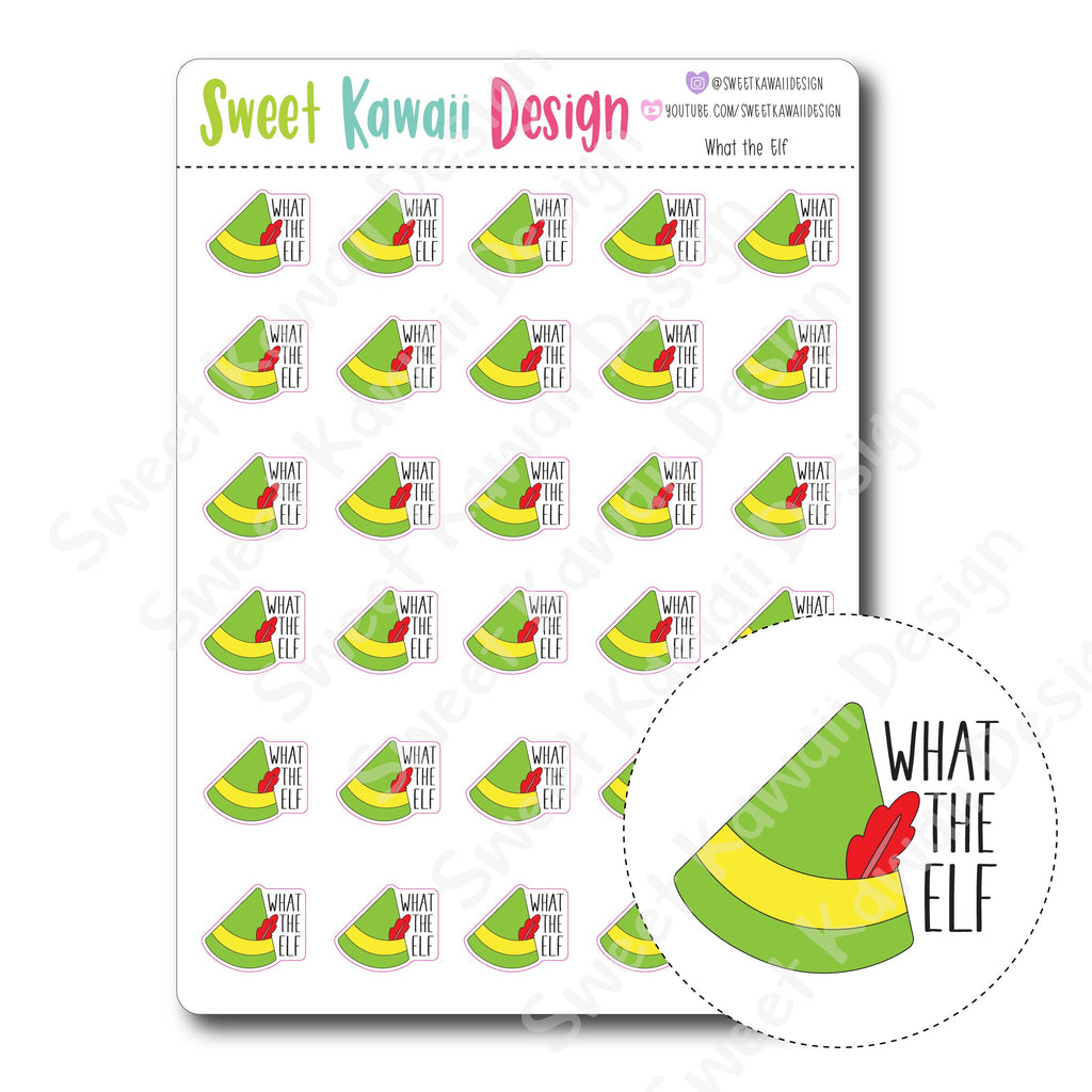 Kawaii What the Elf Stickers