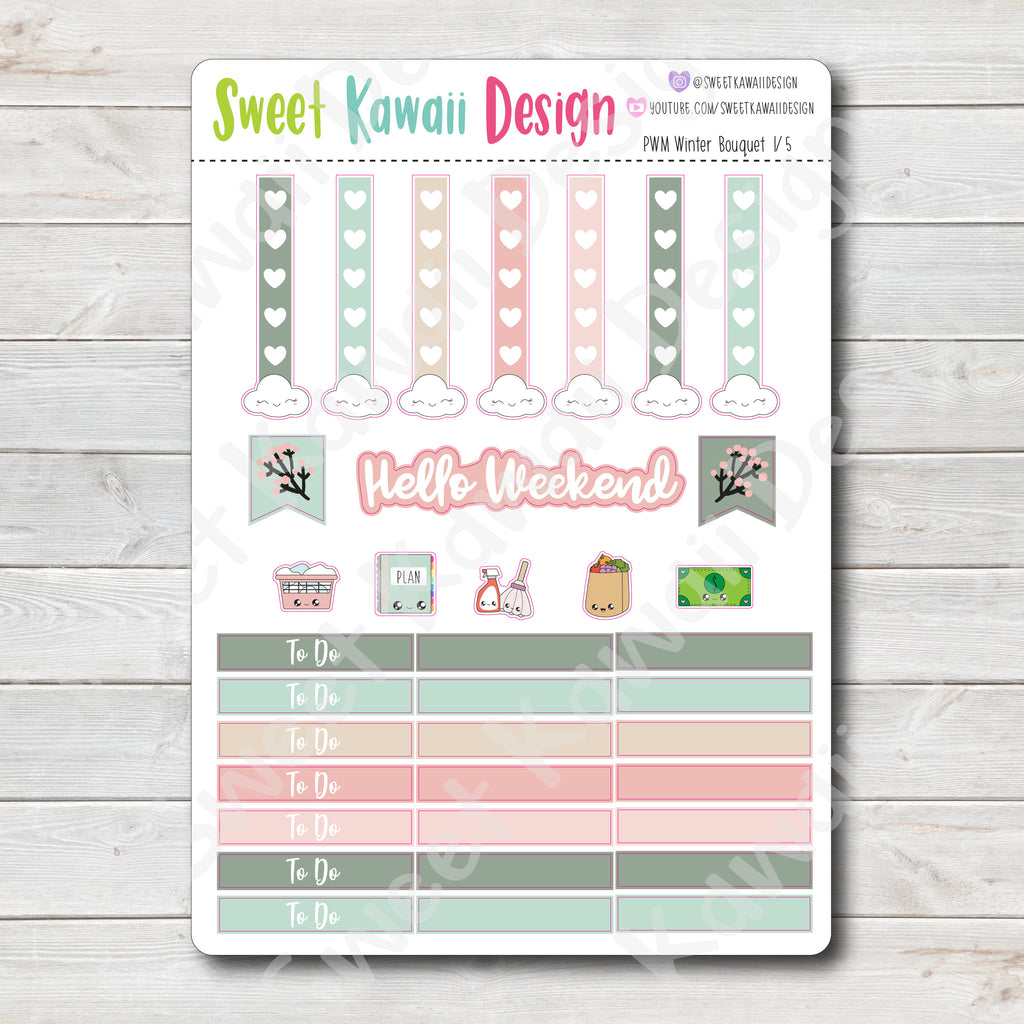Kawaii Plan With Me - Winter Bouquet